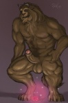 abs anthro balls beast_(disney) beauty_and_the_beast biceps big_muscles big_penis disney flower fur hairy humanoid_penis male muscular muscular_male nude pecs penis plant rose rov solo uncut  Rating: Explicit Score: 18 User: sodomite#26679 Date: June 23, 2012