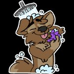 1:1 alpha_channel anthro bubble censored eyes_closed male mammal matt_riskely nude showering smile solo sponge tinydeerguy tongue tongue_out water
