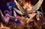2015 amazing armor equine female feral fire friendship_is_magic group helmet hi_res horn mammal melee_weapon my_little_pony nightmare_moon_(mlp) polearm princess_cadance_(mlp) princess_celestia_(mlp) princess_luna_(mlp) scythe silfoe solar_eclipse sword twilight_sparkle_(mlp) weapon winged_unicorn wings  Rating: Safe Score: 16 User: Robinebra Date: December 29, 2015