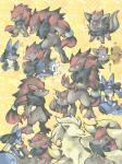 ambiguous_gender black_fur blue_fur canine fox fur lucario mammal ninetales nintendo pokémon riolu video_games vulpix yellow_fur zoroark zorua  Rating: Safe Score: 15 User: Rad_Dudesman Date: November 15, 2015
