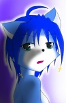 anthro bare_shoulders black_nose blue_fur blue_hair canine female fox fur green_eyes hair hair_ornament jewelry krystal mammal nintendo plain_background solo star_fox unknown_artist video_games white_fur  Rating: Safe Score: 0 User: Cαnε751 Date: June 23, 2015""