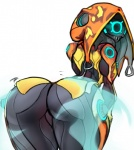 alien big_butt butt eyeless female hood humanoid ivara_(warframe) looking_back not_furry rear_view scas shaking_butt simple_background solo tenno warframe white_background  Rating: Questionable Score: 17 User: ROTHY Date: December 10, 2015