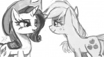 2013 applejack_(mlp) bedroom_eyes black_and_white couple cowboy_hat cutie_mark equine female feral freckles friendship_is_magic half-closed_eyes hat horn horse mammal monochrome my_little_pony plain_background pony raikoh-illust rarity_(mlp) unicorn white_background   Rating: Safe  Score: 6  User: 2DUK  Date: February 16, 2013