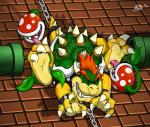 3_toes anthro bdsm bondage bound bowser chain flora_fauna foot_fetish group hindpaw hindpaw_(artist) koopa laugh licking_foot male mario_bros nintendo paws piranha_plant plant scalie soles tickling toes video_games   Rating: Questionable  Score: 6  User: Dominion  Date: September 02, 2014