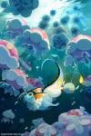 ambiguous_gender bluekomadori bubble chinchou eeveelution feral group hi_res jellicent marine nintendo open_mouth pokémon red_eyes sea smile underwater vaporeon video_games waterRating: SafeScore: 13User: N7Date: October 24, 2015