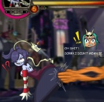 ! ? ?! anal anal_fingering beegobee blue_hair blue_skin bone breasts butt cerebella dialogue dragon english_text eye_roll female fingering green_hair group hair hair_over_eye human leviathan_(skullgirls) male mammal red_eyes skullgirls squigly stitches tears text undead zombie  Rating: Questionable Score: -2 User: ROTHY Date: November 30, 2015