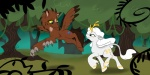 avian beast_(disney) beauty beauty_and_the_beast belle c4tspajamas crossover cute cutie_mark disney duo equine female feral forest friendship_is_magic gryphon hair horse kirin long_hair mammal my_little_pony outside smile tree wood   Rating: Safe  Score: 8  User: Somepony  Date: September 13, 2011