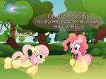 2015 absurd_res bdsm blue_eyes blush bondage bound cutie_mark detailed_background duo earth_pony english_text equine feathered_wings feathers female feral flower fluttershy_(mlp) friendship_is_magic fur gag grass hair hi_res horse mammal my_little_pony nightmaremoons open_mouth outside pegasus pink_fur pink_hair pinkie_pie_(mlp) plant pony rope sky teeth text tree wings yellow_feathers yellow_fur  Rating: Questionable Score: 3 User: ConsciousDonkey Date: February 27, 2016