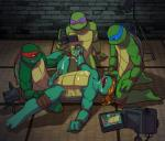 anal anal_penetration anthro biceps blush brothers camera cum cum_in_mouth cum_inside cum_on_chest cum_on_face cum_on_hand cum_on_self cum_while_penetrated cumshot detailed_background donatello_(tmnt) erection eyes_closed foursome gangbang glans green_penis green_skin grin group group_sex handjob hands-free holding holding_penis humanoid_penis incest inside kneeling leonardo_(tmnt) lying male male/male mask masturbation michelangelo_(tmnt) missionary_position muscles nude on_back open_mouth oral orgasm pads penetration penis penis_grab raphael_(tmnt) reptile scalie sex shell sibling slit smile sneefee spread_legs spreading teenage_mutant_ninja_turtles teeth toned tongue tongue_out turtle vein yellow_eyes  Rating: Explicit Score: 15 User: Genjar Date: February 07, 2015""
