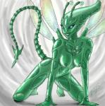 alien arthropod breasts glowing glowing_eyes grriva humanoid insect nipples shiny smile solo wings   Rating: Questionable  Score: 0  User: h4x0r  Date: April 02, 2015