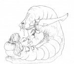 alice_(alice_in_wonderland) alice_in_wonderland arthropod black_and_white breasts caterpillar female human insect mammal marjorie_baldwin_greene_(artist) monochrome nightmare_fuel nipples nude pubes spread_legs spreading tentacles  Rating: Explicit Score: 1 User: Munkelzahn Date: August 10, 2015