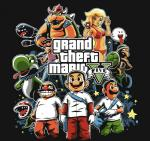 alternate_costume baseball_bat bicycle boo_(mario) bowser bullet_bill cellphone chain clothing crossover facial_hair female flora_fauna fuacka gas_mask grand_theft_auto grand_theft_auto_v green_yoshi group gun hammer_brothers handgun human koopa luigi male mammal mario mario_bros mask mustache naolito nintendo parody phone piranha_plant pistol plant princess_peach ranged_weapon rockstar_games scalie spooky_boo swimsuit tongue tongue_out video_games waluigi wario weapon yoshi