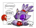 2005 balls blaze_the_cat breasts cum female jikylio knuckles_the_echidna male nipples oral penis purple_eyes sonic_(series)  Rating: Explicit Score: 3 User: Untamed Date: August 30, 2015