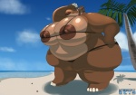 2013 anthro beach big_breasts bikini breasts clothed clothing cloud female hippopotamus huge_breasts island kazecat mammal morbidly_obese nipples outside overweight sand seaside skimpy sky solo swimsuit tight_clothing tree water   Rating: Questionable  Score: 6  User: misspriss  Date: March 21, 2013