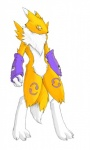 anthro canine chest_tuft clothing digimon elbow_gloves female fox fur gloves mammal pira renamon solo standing tuft yellow_fur   Rating: Safe  Score: 2  User: nino  Date: January 03, 2009