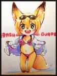 bikini black_eyes canine clothing female fox fur hair kemono mammal open_mouth orange_fur orange_hair panties solo swimsuit underwear マボ   Rating: Safe  Score: 0  User: KemonoLover96  Date: May 29, 2015
