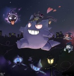 <3 ambiguous_gender banette blush city duskull eyes_closed fangs fire flower flower_in_hair gastly gengar ghost group happy lampent leaf light night nintendo open_mouth outside plant pokémon red_eyes sky smile spirit star street_lamp teeth tongue tongue_out tree video_games yellow_eyes zipper エリク  Rating: Safe Score: 4 User: N7 Date: June 26, 2015