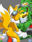 anthro anus avian balls beak bird blush canine coolblue cum duo erection eyes_closed eyewear fox goggles hawk jet_the_hawk male male/male mammal miles_prower oral penis sex sonic_(series) sonic_riders  Rating: Explicit Score: 7 User: CoolBlue Date: January 02, 2016