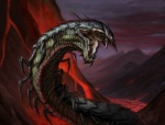 ambiguous_gender arthropod blind breastplate centipede eric_deschamps eyeless insectoid landscape lava magic_the_gathering monster mountain multi_limb multiple_legs official_art open_mouth outside sharp_teeth shell solo spine teeth volcano  Rating: Safe Score: 4 User: Circeus Date: February 25, 2015