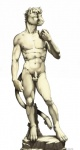alternate_species animal_genitalia anthro balls bell cat claws david_(biblical_figure) feline fully_sheathed furrification hi_res inspired_by_proper_art male mammal michelangelo_di_lodovico_buonarroti_simoni muscular navel nipple_piercing nipples nude parody piercing sculpture sheath simple_background solo source_request standing statue tail_bell tribute truegrave9 white_background