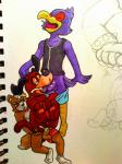 anal anal_penetration anthro anthro_on_feral avian balls beak bestiality bird bowserboy101 butt canine clothed_sex clothing crossover cum cum_in_ass cum_inside cum_on_butt cum_on_penis cumshot dog duck_hunt erection eyes_closed falco_lombardi feral fox fox_mccloud group group_sex humanoid_penis hunt_(duckhunt) interspecies legwear male male/male mammal nintendo one_eye_closed open_mouth oral orgasm penetration penis sex shorts sketch socks star_fox super_smash_bros threesome tongue tongue_out traditional_media_(artwork) video_games  Rating: Explicit Score: 5 User: king-kaze Date: June 05, 2015