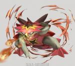 2016 ambiguous_gender feral fire fireball hi_res kenshih nintendo pokémon spikes turtonator video_games