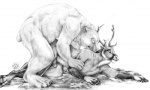 anal anal_penetration animal_genitalia anthro antlers bear blotch cervine chubby claws deer erection from_behind fur half-erect hooves horn interspecies male male/male mammal monochrome nude overweight penetration penis plain_background polar_bear predator/prey_relations reindeer sex size_difference teeth white_background white_fur   Rating: Explicit  Score: 36  User: JouJouKS  Date: April 09, 2013