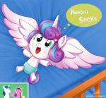 2016 crib cub diaper equine feathered_wings feathers female feral flurry_heart_(mlp) friendship_is_magic hi_res horn mammal my_little_pony princess_cadance_(mlp) shining_armor_(mlp) the-butcher-x winged_unicorn wings young  Rating: Safe Score: 6 User: 2DUK Date: February 22, 2016