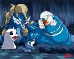 2016 5:4 absurd_res dewgong feral group hi_res ice mammal marine nintendo pinniped pokémon pokémon_(species) popplio samurott simple_background son-of-a-kraken video_games walrein walrus water