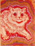 abstract ambiguous_gender colorful domestic_cat felid feline felis feral fluffy fur hi_res louis_wain mammal paws psychedelic red_outline solo traditional_media_(artwork) whiskers yellow_furRating: SafeScore: 6User: GekyumeDate: May 06, 2019