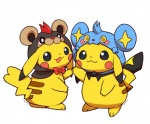 bow_tie duo female hood huiro looking_at_viewer male nintendo pikachu pokémon video_games  Rating: Safe Score: 3 User: tengger Date: March 30, 2015