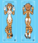 anthro blank_stare bookmark breasts butt casual_nudity chest_tuft digital_media_(artwork) english_text featureless_crotch feline female flora_(twokinds) fur hair hi_res hindpaw keidran looking_at_viewer mammal nude orange_fur pawpads paws simple_background solo stripes tasteful_nudity text tiger tom_fischbach tuft twokinds white_fur  Rating: Questionable Score: 14 User: gaunt0 Date: June 30, 2015