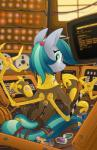 2015 armor blue_eyes blue_hair can claws clothing computer cybernetics cyborg energy_drink equestria-prevails equine fan_character female hair horse looking_at_viewer machine mammal my_little_pony pony screwdriver solo tools  Rating: Safe Score: 12 User: 2DUK Date: August 15, 2015