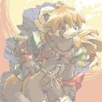 backpack bottomless breasts clothed clothing dagger female fuziwa hair half-dressed knife mammal melee_weapon partially_clothed ponytail red_panda ribbons weapon  Rating: Questionable Score: 3 User: zrnbt Date: August 29, 2015
