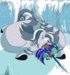 anonopony belly big_belly capcom crossover duo equine female goo horse mammal monster_hunter my_little_pony overweight pony saliva tongue video_games vore zebra zebrastripe_zamtrios  Rating: Questionable Score: 3 User: MonsterLion Date: September 14, 2015