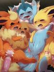 anal anal_beads anal_insertion anal_penetration anus blue_eyes blush brown_eyes dagasi eevee eeveelution female feral flareon group hitachi_magic_wand jolteon lying nintendo on_back open_mouth orgasm pawpads penetration pokémon purple_eyes pussy pussy_ejaculation pussy_juice saliva sex_toy tears tongue vaginal vaginal_insertion vaginal_penetration vaporeon vibrator video_games  Rating: Explicit Score: 36 User: chdgs Date: November 03, 2015