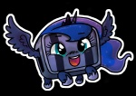 alpha_channel balrog_(cave_story) blue_eyes blue_hair blue_skin cave_story crossover female friendship_is_magic hair horn my_little_pony princess_luna_(mlp) smile tiara video_games wings zicygomar   Rating: Safe  Score: 18  User: Suineder  Date: August 28, 2013