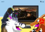 2015 angry canine charizard controller digimon dragon duo gaming happy male mammal mortal_kombat nintendo playstation pokémon television video_games were weregarurumon werewolf zetaby2594  Rating: Safe Score: 4 User: Scakk Date: May 31, 2015""