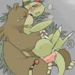 ampharos bear blush breath cave duo female holding japanese_text konopizaga!! lying male mammal nintendo penis pokémon pussy sex straight text ursaring vaginal video_games   Rating: Explicit  Score: 9  User: straybird  Date: March 20, 2014