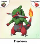 absurd_res ambiguous_gender charmeleon dragon feral fire fraxure fusion hi_res nintendo pokémon twime777 video_games watermark  Rating: Safe Score: 2 User: Rad_Dudesman Date: March 06, 2016