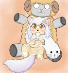 bite blush bow canine caprine cat chibi chubby clothed clothing cub dog doll feline female fur hair kemono loli mammal millicent multicolored_fur navel orange_eyes pawpads paws pillow seal sheep sirbrownbear teeth white_hair young  Rating: Safe Score: 3 User: SirBrownBear Date: September 14, 2015