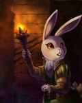amber_(armello) anthro armello big_eyes buckteeth clothed clothing dungeon female lagomorph looking_back mammal mzelda rabbit solo teeth torch yellow_eyes  Rating: Safe Score: 1 User: Occam Date: February 07, 2016