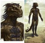 abs absurd_res argonian bust claws concept_art hi_res male muscles scales scalie sketch the_elder_scrolls video_games   Rating: Safe  Score: 6  User: Maraxxus  Date: March 07, 2014
