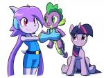 2015 anthro clothed clothing dragon equine female freedom_planet friendship_is_magic fur goshaag green_eyes horn horse male mammal my_little_pony pink_eyes pony purple_eyes sash_lilac smile spike_(mlp) twilight_sparkle_(mlp) unicorn video_games  Rating: Safe Score: 0 User: Googlipod Date: August 30, 2015