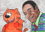 abstract_background animated bill_cosby brown_skin cat epilepsy_warning feline heathcliff heathcliff_&_the_catillac_cats human janieledford looking_at_viewer male mammal pointing   Rating: Safe  Score: -3  User: ktkr  Date: February 27, 2015