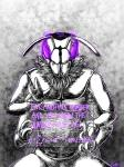 2017 abstract_background actini ambiguous_gender anthro arthropod english_text hi_res insect math monochrome multi_limb purple_eyes ratte text wasp