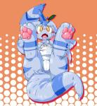 3_toes ambiguous_gender blue_fur blush clothing cub cute fangs foot_focus fur hindpaw looking_at_viewer one-piece_swimsuit open_mouth pawpads paws popuni10 presenting spreading sweat swimsuit toes wet young   Rating: Questionable  Score: 7  User: Squir  Date: January 28, 2014