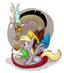 <3 blonde_hair brown_fur derpy_hooves_(mlp) discord_(mlp) draconequus duo equine female food friendship_is_magic fur grey_fur hair horn horse male mammal muffin my_little_pony pegasus pony red_eyes thedoggygal wings yellow_eyes yellow_sclera   Rating: Safe  Score: 5  User: DeltaFlame  Date: February 25, 2015