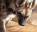 2015 ambiguous_gender brown_eyes brown_fur bust_portrait close-up detailed dirt feral fur hyena kenket looking_at_viewer mammal outside painting portrait shaded side_view solo spotted_hyena white_fur  Rating: Safe Score: 34 User: TheGreatWolfgang Date: September 12, 2015