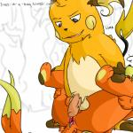 after_sex anal anal_penetration anus balls buizel chest_tuft cum cum_in_ass cum_inside fucked_silly gaping gaping_anus grin interspecies livesinabag_(artist) mammal mustelid nintendo otter penetration penis pokémon raichu rodent sex simple_background spread_legs spreading tuft video_games  Rating: Explicit Score: 1 User: livesinabag Date: May 02, 2016